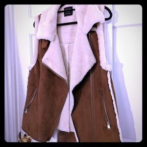 Love Tree Faux Hide Fur Vest Size M
